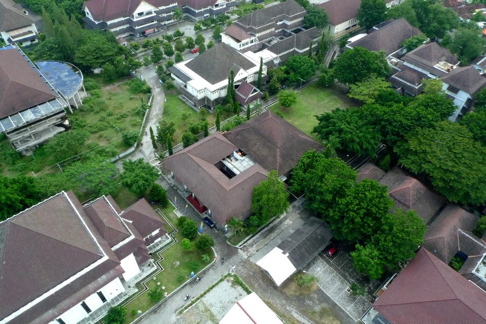 isi jogja from the sky